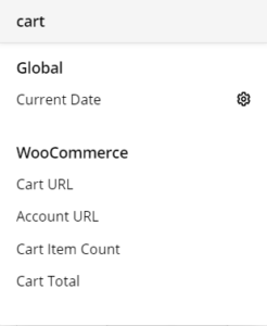 Cart Element dynamic content sources